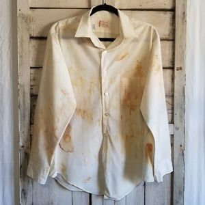 Other - ECO Friendly Rust Dyed Long Sleeve Button Up Large